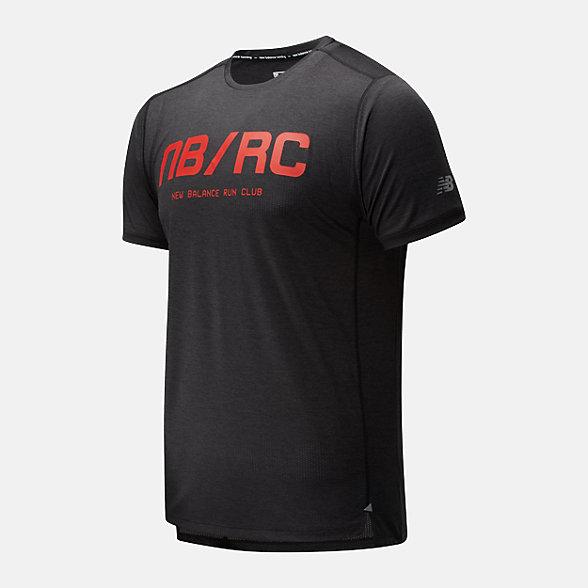 New Balance 男款字母印花运动短袖T恤, AMT01235BRD
