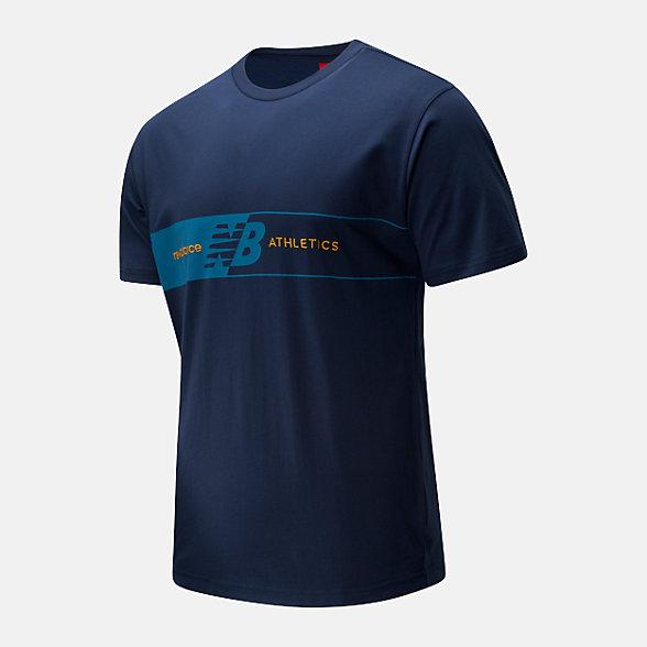 New Balance 男款休闲印花短袖T恤, AMT01510NGO