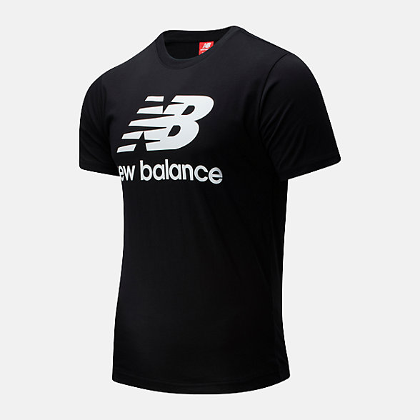 New Balance 男款简约休闲短袖T恤, AMT01511BK
