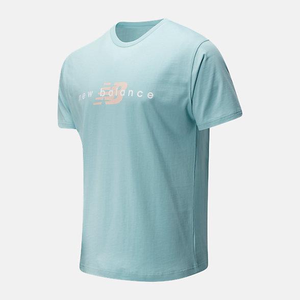 New Balance 男款字母印花短袖T恤, AMT01516DRZ