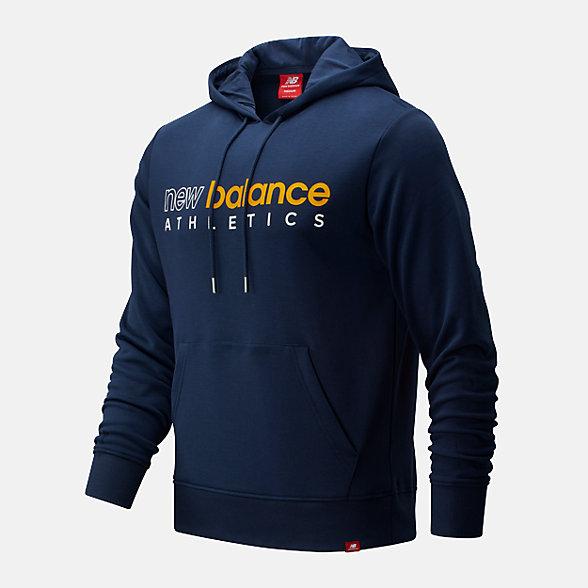 New Balance 男款串标LOGO套头卫衣, AMT01524NGO