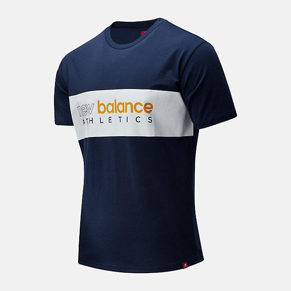 New Balance 余文樂同款男款休閑短袖T恤, AMT01525NGO