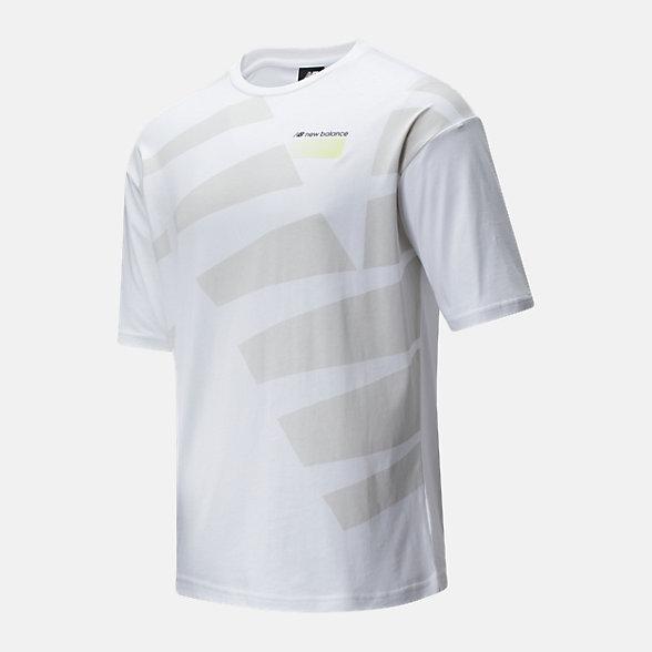 New Balance 男款不规则印花短袖T恤, AMT01538WT
