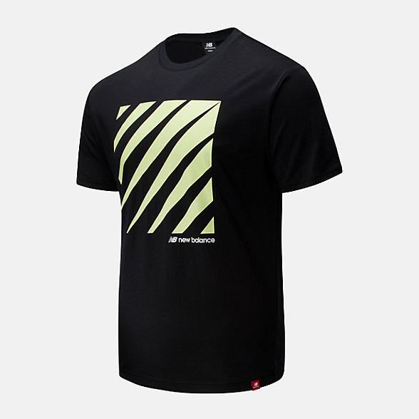 New Balance 男款不规则印花短袖T恤, AMT01539BK