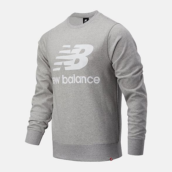 New Balance 男款LOGO印花圆领卫衣, AMT03560AG