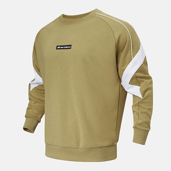New Balance 男款休闲圆领套头卫衣, AMT11326BEI