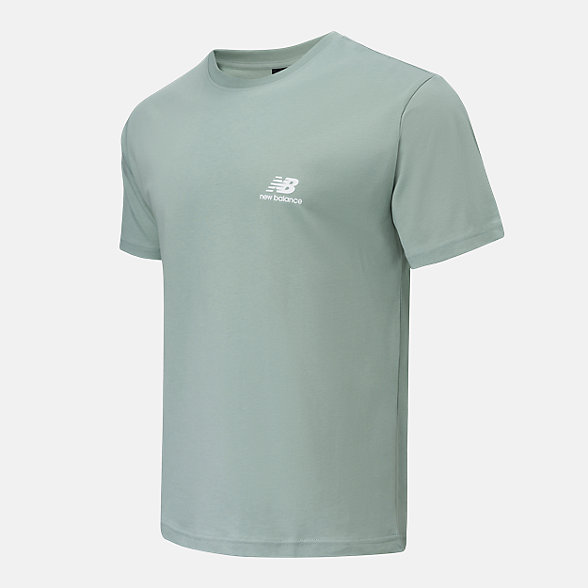 New Balance 男女同款印花短袖T恤, AMT12342LIH