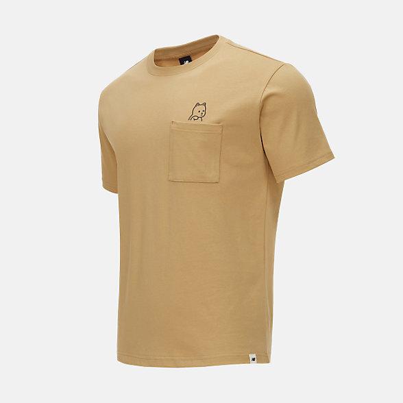 New Balance Noritake联名款男女同款印花短袖T恤, AMT12347MSU
