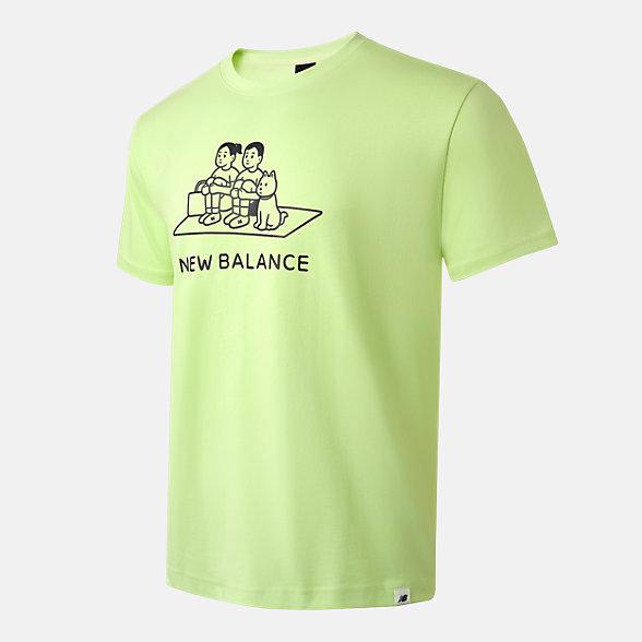 New Balance Noritake联名款男女同款短袖T恤, AMT12349LRW