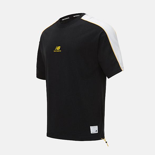 New Balance 男款休闲短袖T恤, AMT12380BK