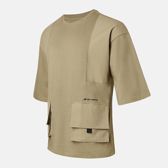 New Balance 男款休闲口袋短袖T恤, AMT12382INC