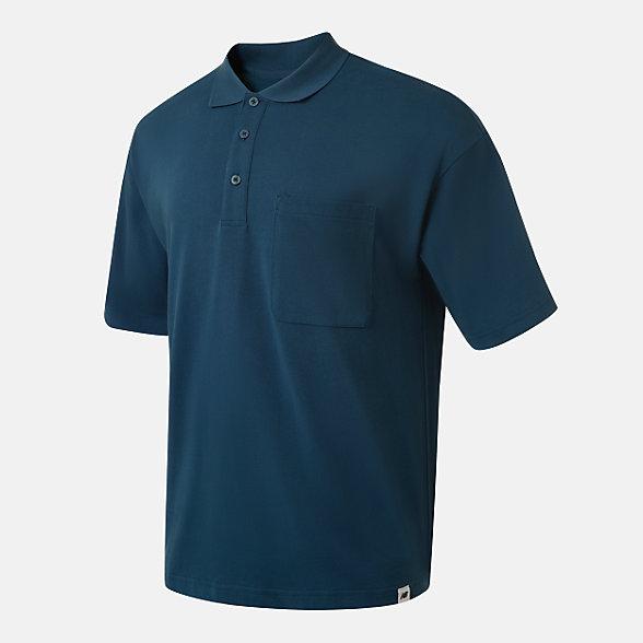 New Balance Noritake联名款男女同款休闲Polo衫, AMT12386ECL