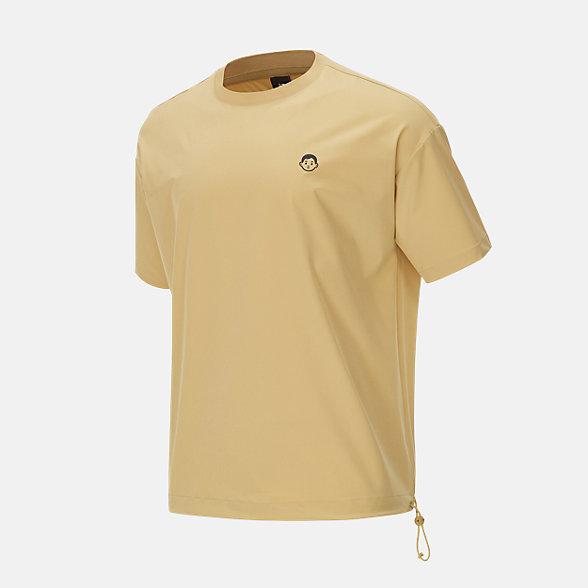 New Balance Noritake联名款男女同款印花短袖T恤, AMT12387MSU