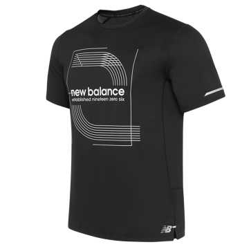 New Balance 男款运动短袖上衣, BJW