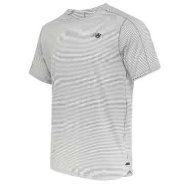 New Balance 男款速干条纹短袖T恤, AG