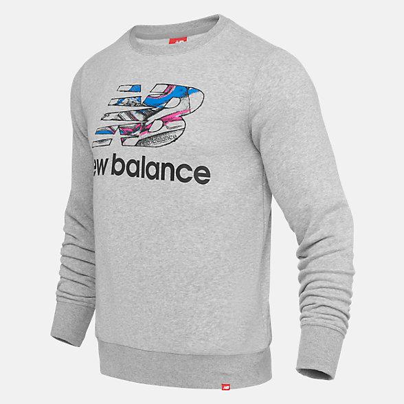 New Balance 997印花卫衣男款 时尚有型  , AMT91516AG