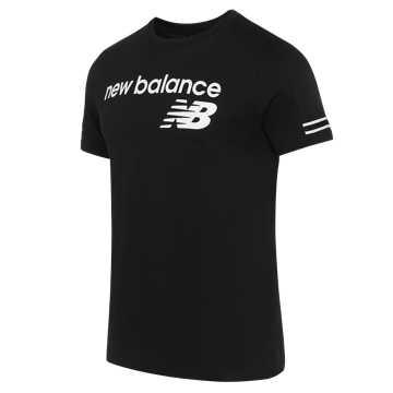 New Balance 男款休閑短袖T恤, BK
