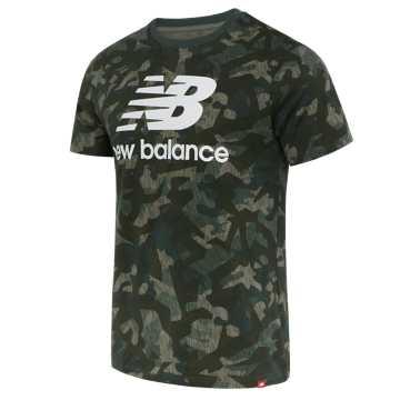 New Balance 男款短袖T恤 简洁舒适 LOGO印花, MGN