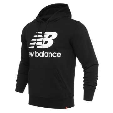 New Balance 男款休闲连帽卫衣, BK