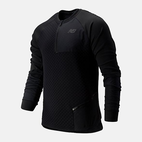 New Balance 男款保暖运动上衣, AMT93003BK