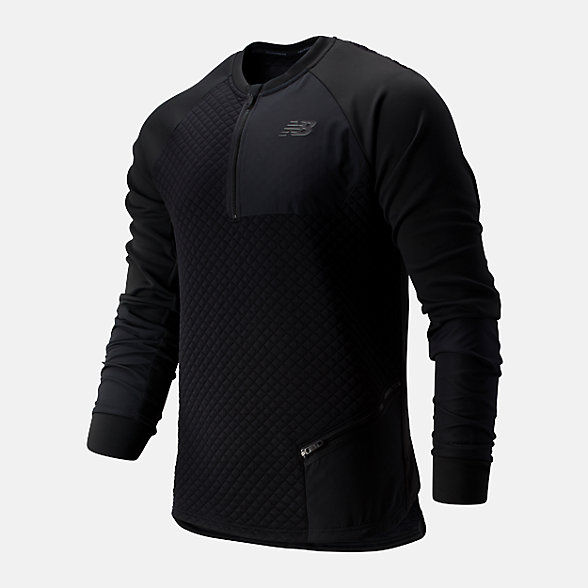 New Balance 男款保暖運動上衣, AMT93003BK
