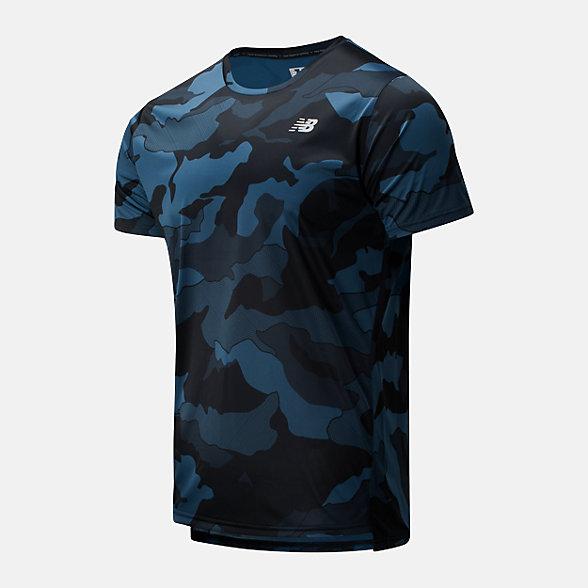 New Balance 男款迷彩速干运动短袖T恤, AMT93181BSL