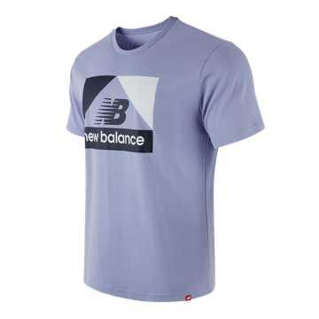 New Balance 男款印花休闲短袖T恤, CAY