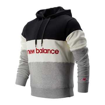New Balance 男款撞色拼接連帽衛衣, BKW