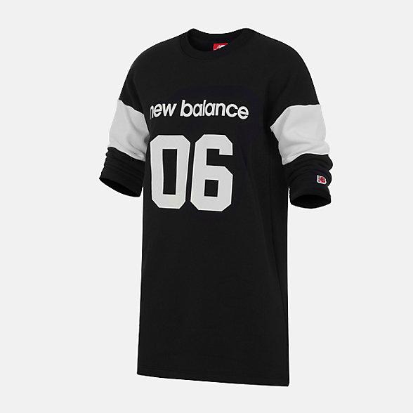 New Balance 女款休閑針織連衣裙, AWD93501BM