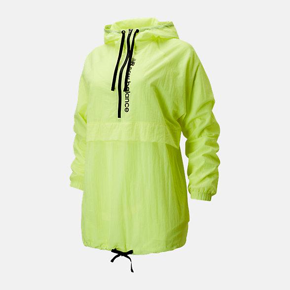 New Balance 女款抽繩半拉鏈休閑梭織外套, AWJ01512LS2