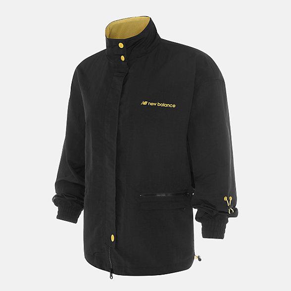 New Balance 张子枫同款女款立领梭织外套, AWJ03360BK