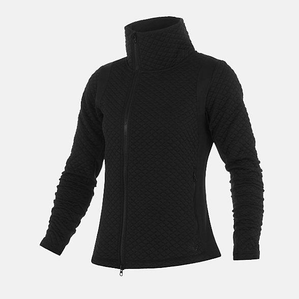 New Balance 女款立领运动针织外套, AWJ93116BK