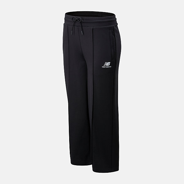 New Balance 女款休闲直筒长裤, AWP01505BK