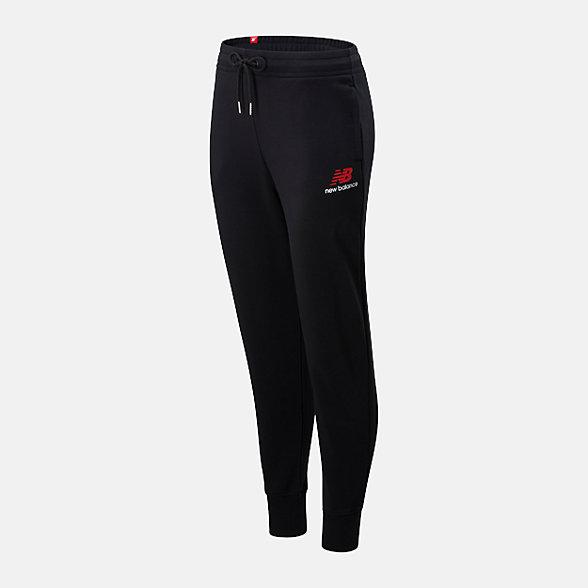 New Balance 女款抽繩束腳針織長褲, AWP01508BK