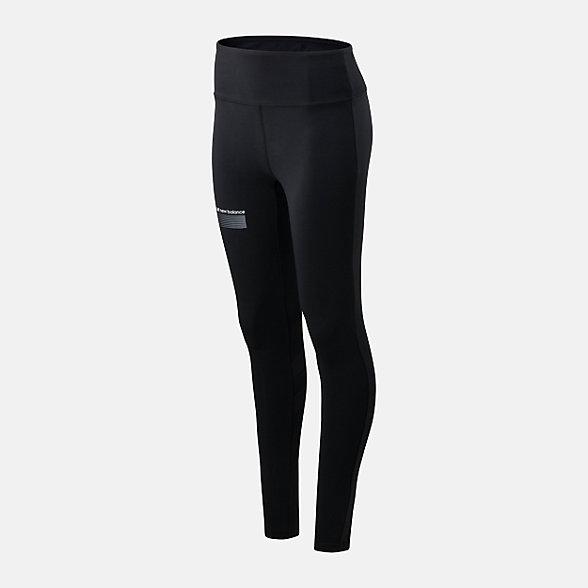 New Balance 女款束腰紧身长裤, AWP01515BK