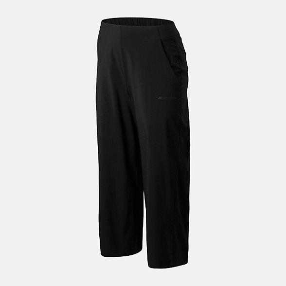 New Balance 女款休闲梭织阔腿长裤, AWP01523BK