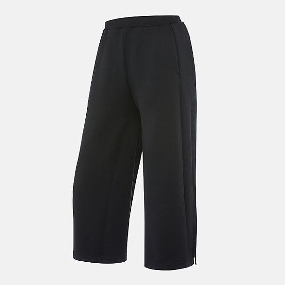 New Balance 女款针织阔腿长裤, AWP03309BK
