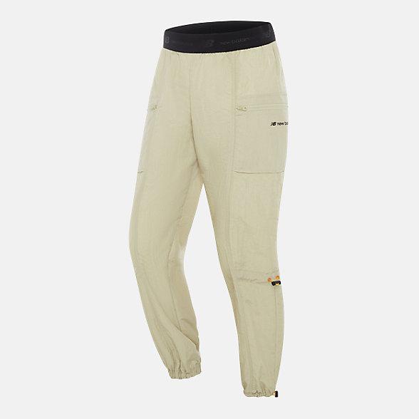 New Balance 张子枫同款女款梭织休闲长裤, AWP03361BEI