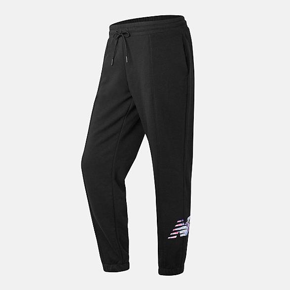 New Balance 女款针织长裤, AWP12330BK
