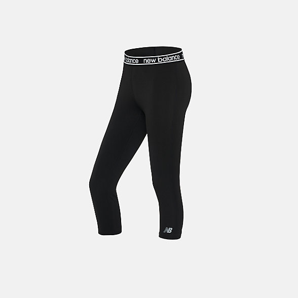 New Balance 女款緊身褲, AWP91133BKW