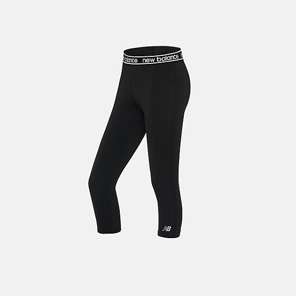 New Balance 女款紧身裤, AWP91133BKW