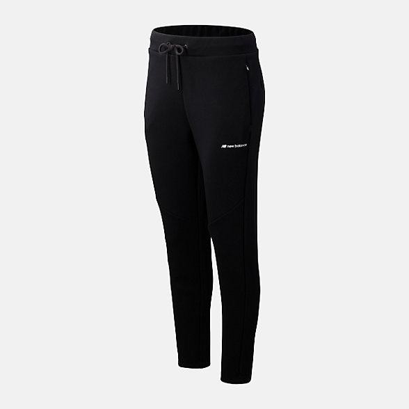 New Balance 女款抽绳束脚针织长裤, AWP93515BK