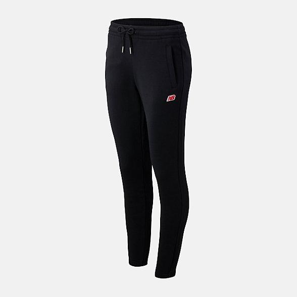 New Balance 女款抽繩束腰針織長褲, AWP93523BK