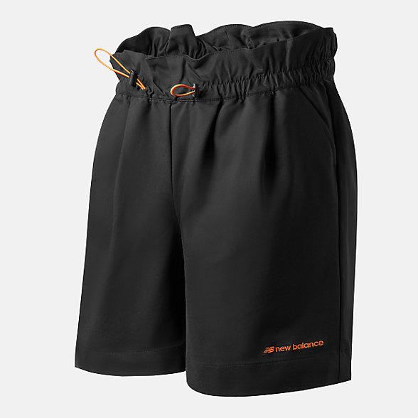 New Balance 女款梭织休闲短裤, AWS12307BK