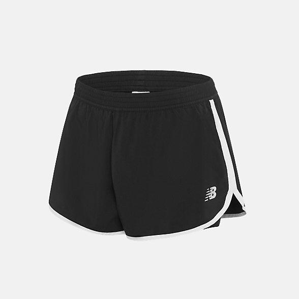 New Balance 女款速干梭织运动短裤, AWS91140BK