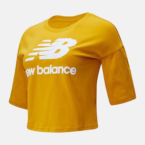 New Balance 女款字母印花短袖T恤, AWT01505VGL