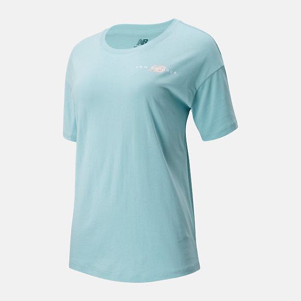 New Balance 女款趣味印花短袖T恤, AWT01512DRZ
