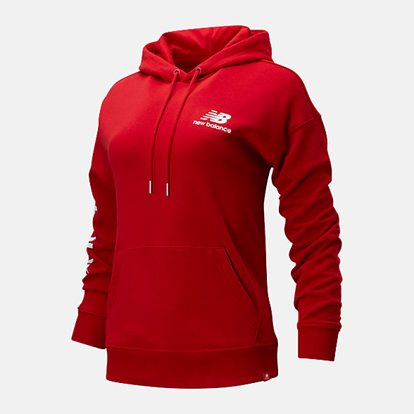 New Balance 女款串標LOGO套頭衛衣, AWT01514REP