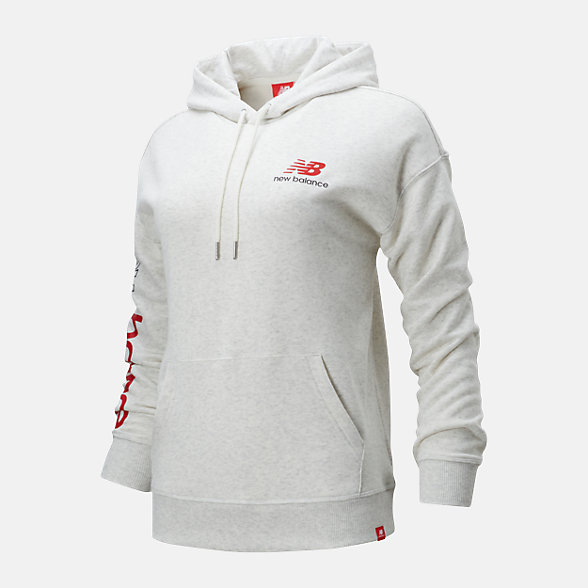 New Balance 女款串标LOGO套头卫衣, AWT01514SAH