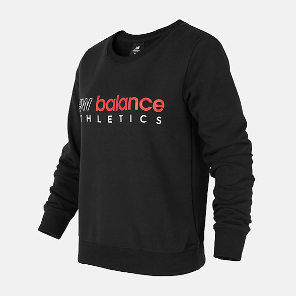 New Balance 女款圆领套头卫衣, AWT01559BK